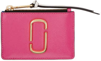 Marc Jacobs Pink and Blue Snapshot Top Zip Multi Card Holder