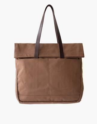 Madewell MAKR Canvas and Leather Fold Weekender Bag