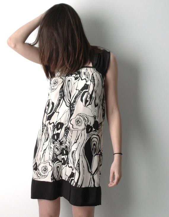 Rhus Ovata Silk Print Dress