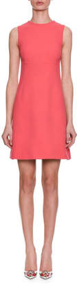 Dolce & Gabbana Sleeveless A-Line Crepe Wool Day Dress