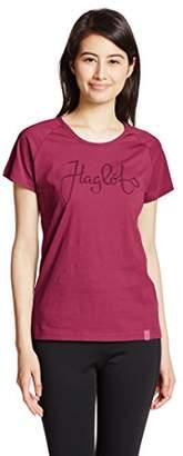 Haglöfs Women's Crew Neck Short Sleeve T-Shirt - Red
