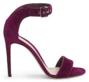 Alexander McQueen Suede Ankle Strap High Heel Sandal