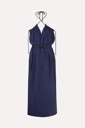 Dries Van Noten Cotton-blend Poplin Dress - Blue