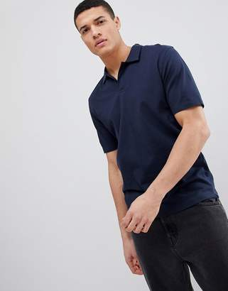 Selected Polo Shirt With Revere Collar