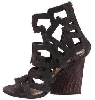 Maiyet Suede Caged Sandals cheap release dates JKonOhj3