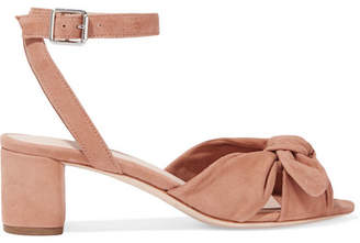 Loeffler Randall Jill Bow-detailed Suede Sandals - Beige