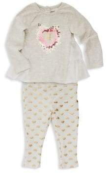 Juicy Couture Baby Girl's Two-Piece Ruffle Tunic & Leggings Set