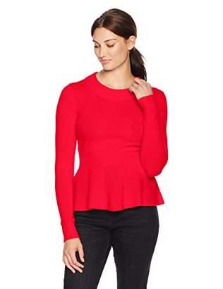 Lark & Ro Women's Sweaters Peplum Cashmere Sweater