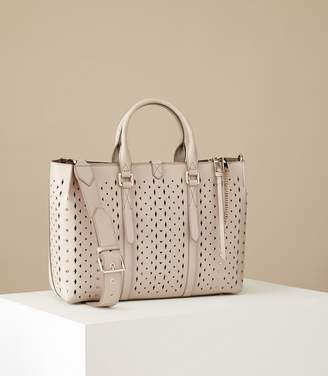 Reiss Picton Laser Cut Laser-Cut Leather Tote