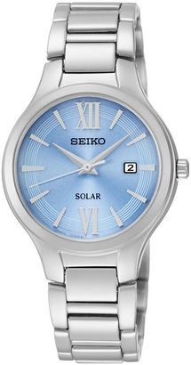 Seiko Women's Stainless Steel Solar Watch - SUT209 $235 thestylecure.com
