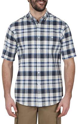 Haggar Plaid Short-Sleeve Sport Shirt