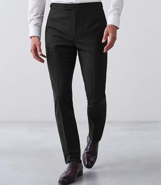 Reiss BELIEF MODERN FIT TRAVEL SUIT TROUSERS Black