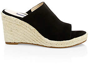 Stuart Weitzman Women's Marabella Suede Wedge Sandals