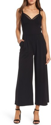 Women's Leith Ballet Crop Wide Leg Ponte Jumpsuit $75 thestylecure.com