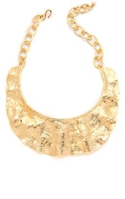 Kenneth Jay Lane Textured Bib Necklace