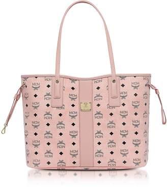 MCM Shopper Project Visetos Soft Pink Medium Reversible Tote Bag