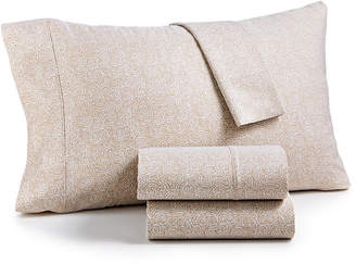 Aq Textiles Closeout! Highland 4-Pc Printed California King Sheet Set, 600 Thread Count Sateen Cotton Blend, Created for Macy's Bedding