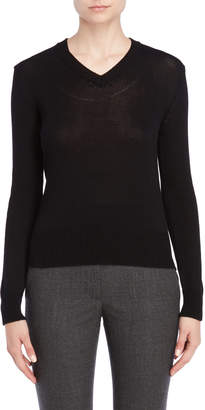 Jil Sander Solid V-Neck Pullover Sweater
