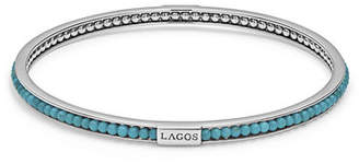 Lagos Caviar Icon Beaded Stone Bangle Bracelet