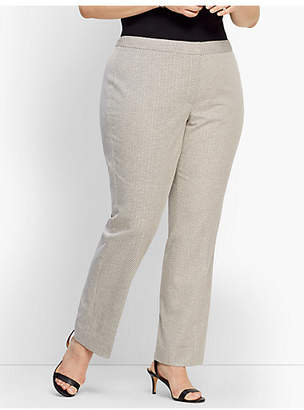 Talbots Womans Exclusive Square Dobby Straight-Leg Pant