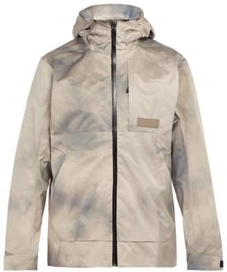 PAM Wave Dye Waterproof Hooded Jacket - Mens - Silver