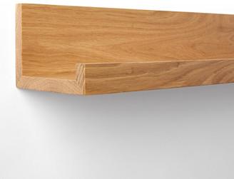 Rejuvenation Wood Ledge Shelving - Walnut