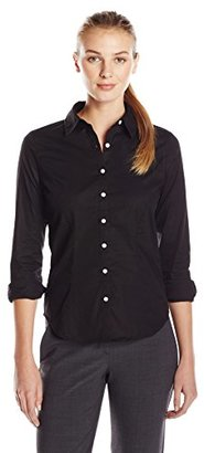 Dockers Women's Ideal Long Sleeve Stretch Shirt $16.78 thestylecure.com
