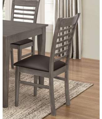 Homesource Home Source Antique Oak Rectangle Side Chairs, Set of 2