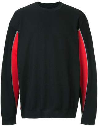 08sircus panelled crew-neck jumper
