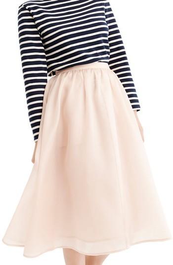 Women's J.crew Puffs Silk Organza Skirt