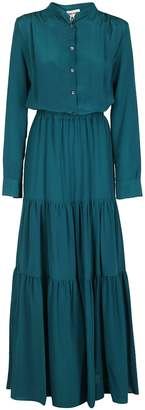Semi-Couture Semicouture Tiered Shirt Maxi Dress