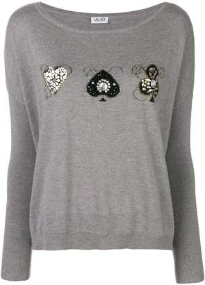 Liu Jo embellished sweater