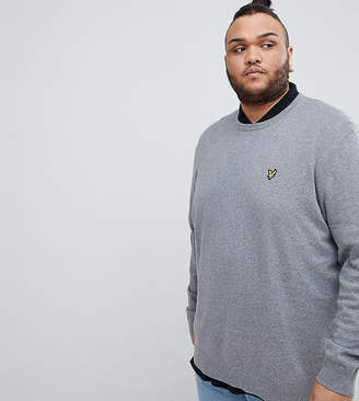 Lyle & Scott cotton sweater in gray