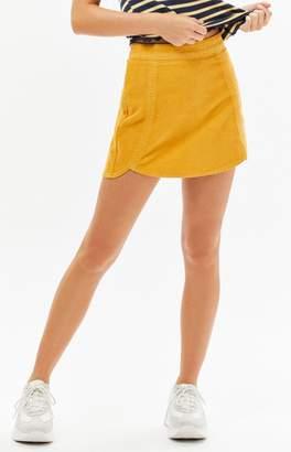 PacSun Corduroy Tulip Mini Skirt