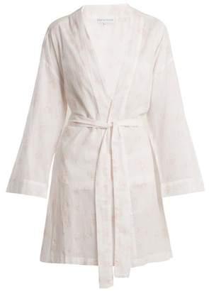 Batiste Pour Les Femmes - Floral Print Cotton Robe - Womens - Pink
