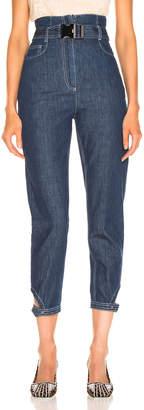 Fendi Belted High Waisted Jean in Blue | FWRD