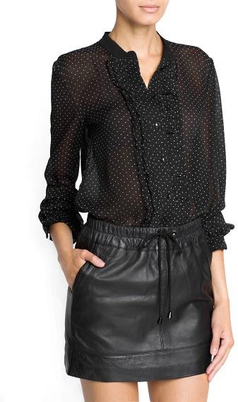 MANGO Outlet Polka-Dot Chiffon Shirt