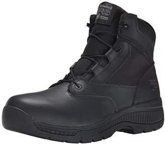 Timberland Men's 6 Inch Valor Soft Toe Side Zip Work Boot