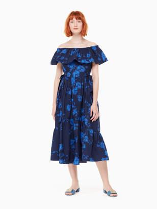 Kate Spade hibiscus off the shoulder dress