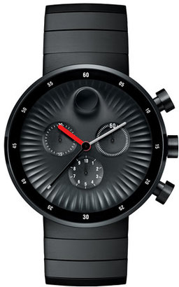 Movado 42mm Edge Chronograph Watch, Black $1,195 thestylecure.com
