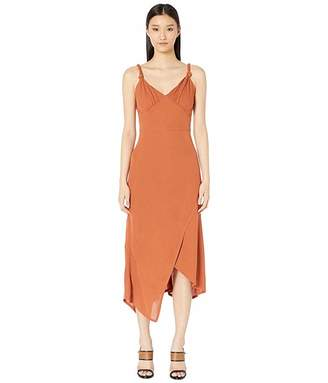 Yigal Azrouel Knotted Strap Matte Jersey Dress