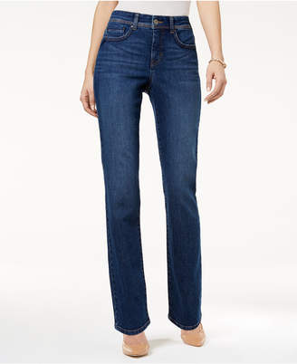 Style&Co. Style & Co Tummy-Control Straight-Leg Jeans