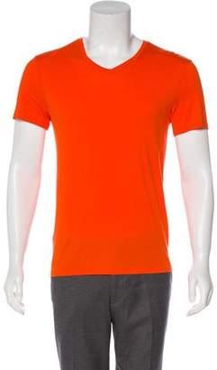 Vince V-Neck Knit T-Shirt