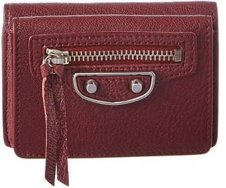Balenciaga Classic Silver Edge Mini Leather Wallet
