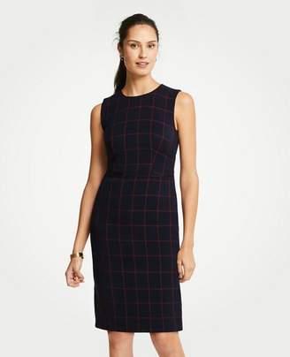 Ann Taylor Windowpane Sheath Dress