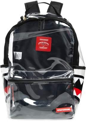 clear SPRAYGROUND 20/20 Double Cargo Side Shark Backpack