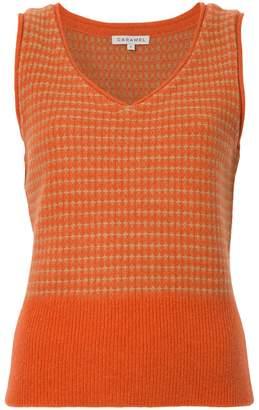Caramel knitted vest
