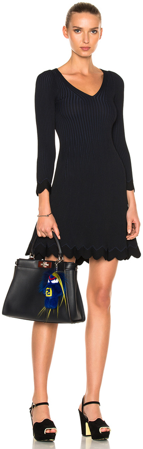 Fendi Long Sleeve Mini Dress