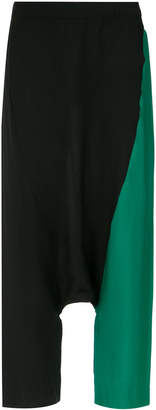 Mara Mac drop crotch panelled trousers