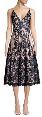 Eliza J Floral Lace Fit-&-Flare Dress